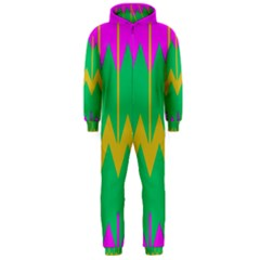Chevrons Hooded Jumpsuit (Men) by LalyLauraFLM