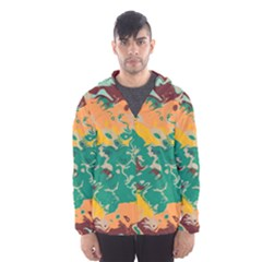 Texture In Retro Colors Mesh Lined Wind Breaker (men) by LalyLauraFLM