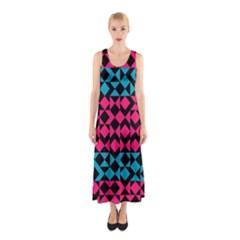 Rhombus And Trianglesfull Print Maxi Dress by LalyLauraFLM