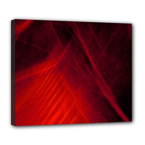 Red Abstract Deluxe Canvas 24  X 20   by timelessartoncanvas