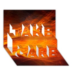 Orange Wonder Take Care 3d Greeting Card (7x5)  by timelessartoncanvas