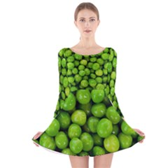 Peas Rule By Ignatius Rake Long Sleeve Velvet Skater Dress by RakeClag