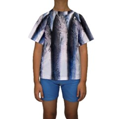 Fish Detail By Sandi Kid s Short Sleeve Swimwear by RakeClag