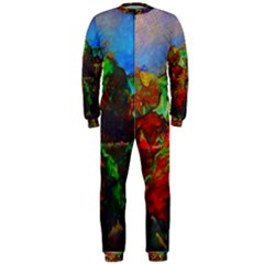Chicago Park Painting OnePiece Jumpsuit (Men)  by bloomingvinedesign