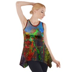 Chicago Park Painting Side Drop Tank Tunic by bloomingvinedesign