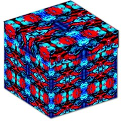 Red Black Blue Art Pattern Abstract Storage Stool 12   by Costasonlineshop