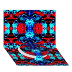 Red Black Blue Art Pattern Abstract Circle Bottom 3d Greeting Card (7x5)  by Costasonlineshop