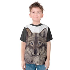 Wolf Kid s Cotton Tee by ArtByThree