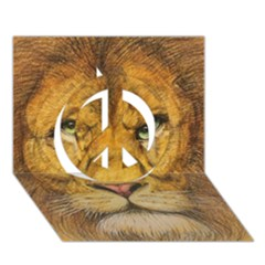 Regal Lion Drawing Peace Sign 3d Greeting Card (7x5)  by KentChua
