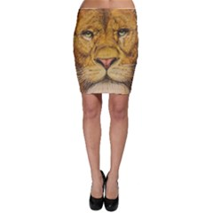Regal Lion Drawing Bodycon Skirts by KentChua