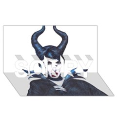 Maleficent Drawing Sorry 3d Greeting Card (8x4)  by KentChua