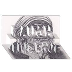 Mother Theresa  Pencil Drawing Laugh Live Love 3d Greeting Card (8x4)  by KentChua