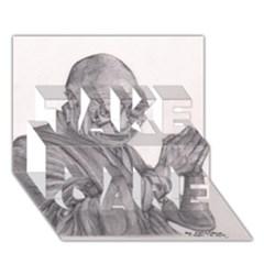 Dalai Lama Tenzin Gaytso Pencil Drawing Take Care 3d Greeting Card (7x5)  by KentChua