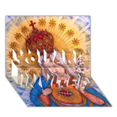 Immaculate Heart Of Virgin Mary Drawing You Are Invited 3d Greeting Card (7x5)  by KentChua