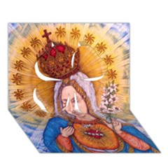 Immaculate Heart Of Virgin Mary Drawing Clover 3d Greeting Card (7x5)  by KentChua