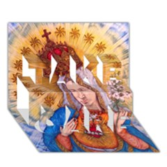 Immaculate Heart Of Virgin Mary Drawing Take Care 3d Greeting Card (7x5)  by KentChua