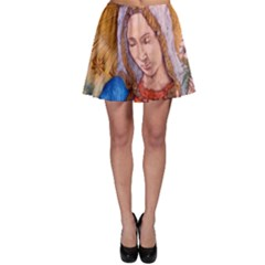Immaculate Heart Of Virgin Mary Drawing Skater Skirt by KentChua