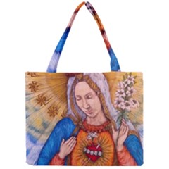 Immaculate Heart Of Virgin Mary Drawing Tiny Tote Bags by KentChua