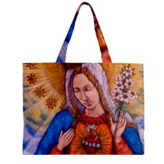 Immaculate Heart Of Virgin Mary Drawing Zipper Tiny Tote Bags by KentChua