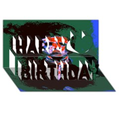 Edgar Allan Poe Pop Art  Happy Birthday 3d Greeting Card (8x4)  by icarusismartdesigns