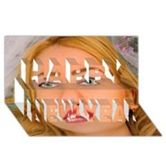 5000x5000 Phwoar Full Sized Happy New Year 3D Greeting Card (8x4)  by RakeClag