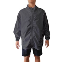 Carbon Fiber Graphite Grey and Black Woven Steel Pattern Wind Breaker (Kids) by PaperandFrill