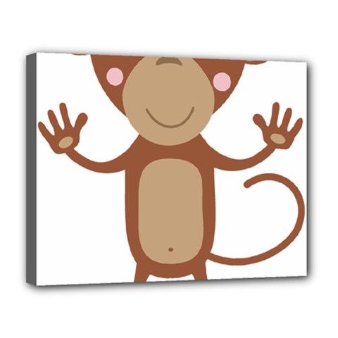 Female Monkey With Flower Canvas 14  X 11  by ilovecotton