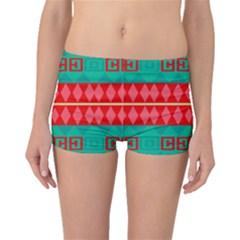 Rhombus Stripes And Other Shapes Boyleg Bikini Bottoms