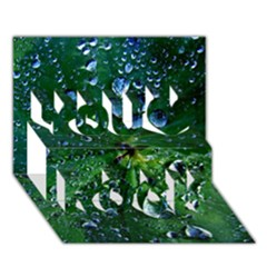Morning Dew You Rock 3D Greeting Card (7x5)  by Costasonlineshop