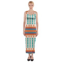 Etnic Design Fitted Maxi Dress by LalyLauraFLM