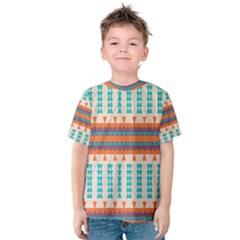 Etnic design Kid s Cotton Tee by LalyLauraFLM