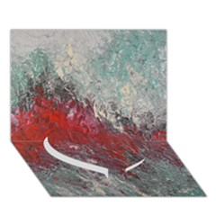 Metallic Abstract 2 Heart Bottom 3d Greeting Card (7x5)  by timelessartoncanvas