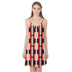 Rectangles And Stripes Pattern Camis Nightgown by LalyLauraFLM