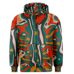 Retro colors chaos Men s Zipper Hoodie by LalyLauraFLM