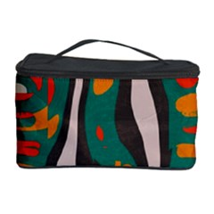 Retro Colors Chaos Cosmetic Storage Case by LalyLauraFLM