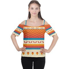 Tribal Shapes  Women s Cutout Shoulder Tee by LalyLauraFLM