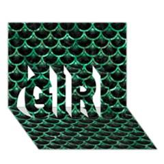 SCA3 BK-GR MARBLE (R) GIRL 3D Greeting Card (7x5)  by trendistuff