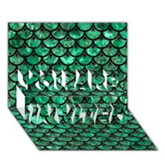Scales3 Black Marble & Green Marble You Are Invited 3d Greeting Card (7x5) by trendistuff