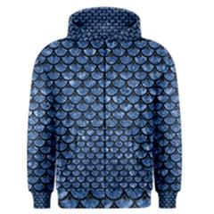 SCA3 BK-BL MARBLE Men s Zipper Hoodie by trendistuff