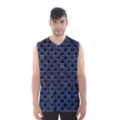 Scales2 Black Marble & Blue Marble (r) Men s Basketball Tank Top