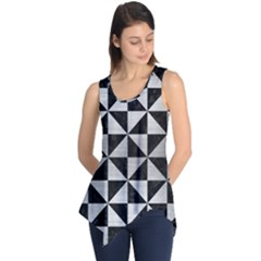 TRI1 BK MARBLE SILVER Sleeveless Tunic by trendistuff