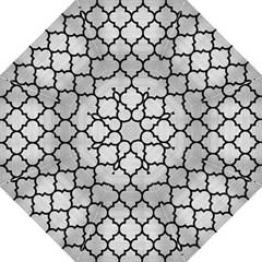 Tile1 Black Marble & Silver Brushed Metal (r) Hook Handle Umbrella (medium) by trendistuff