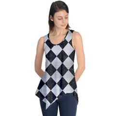 Square2 Black Marble & Silver Brushed Metal Sleeveless Tunic