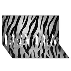 Skin3 Black Marble & Silver Brushed Metal (r) Best Bro 3d Greeting Card (8x4) by trendistuff