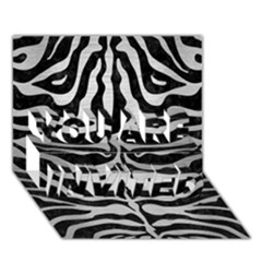Skin2 Black Marble & Silver Brushed Metal You Are Invited 3d Greeting Card (7x5) by trendistuff