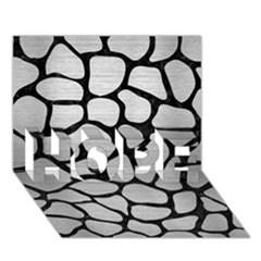 SKN1 BK MARBLE SILVER HOPE 3D Greeting Card (7x5)  by trendistuff