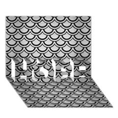 Scales2 Black Marble & Silver Brushed Metal (r) Hope 3d Greeting Card (7x5) by trendistuff