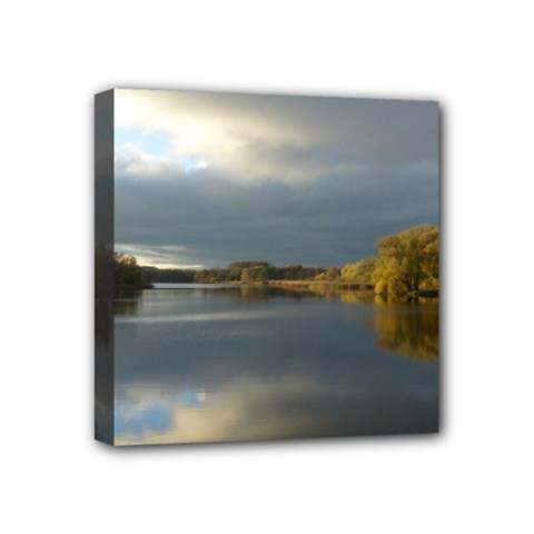 View   On The Lake Mini Canvas 4  X 4  by Costasonlineshop