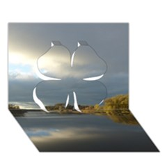 View   On The Lake Clover 3d Greeting Card (7x5)  by Costasonlineshop