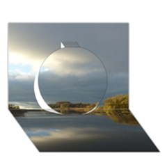 View   On The Lake Circle 3d Greeting Card (7x5)  by Costasonlineshop